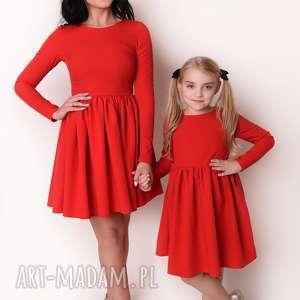 LATORI - Sukienka dziewczęca z kolekcji Mama i Córka dla córki LD40/1 (Czerwony)