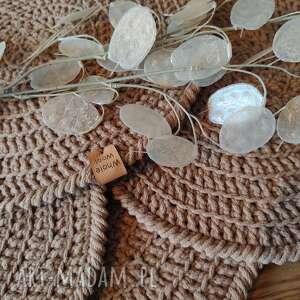 hand-made podkładki zestaw 4 podkładek ze sznurka bawełnianego
