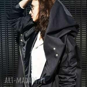 czarny płaszcz rozmiar m długość 124cm, oversize, kurtka jesienna