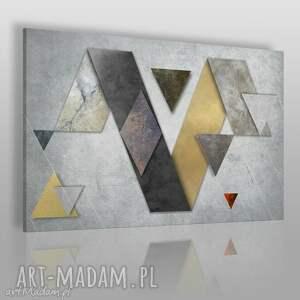 obraz na płótnie - beton kształty 120x80 cm 44101, beton, kształty, geometryczny