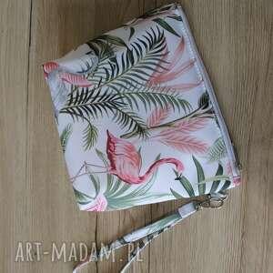 torebki niezwykle kosmetyczka - lady flamingo, flamingi, pastele, pakowna