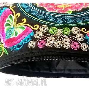 portfel kosmetyczka haftowana torebeczka, portfel, kosmetyczna, haftowana, damska