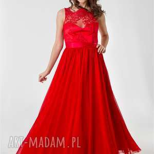 Maxi sukienka Laura z koronką rozm 34 do 42, sukienkamaxi, wesele, koronka