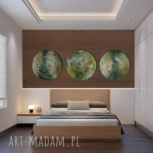 alexandra13 tryptyk księżycowy, abstrakcja, obraz do salonu, wnętrza, dekoracja
