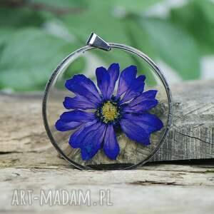 herbarium jewelry naszyjnik z żywicy na prezent z83, kwiatowa biżuteria