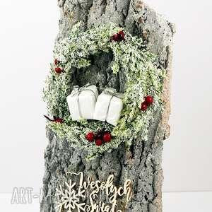 hand-made pomysł na prezent kartka bożonarodzeniowa - wianek