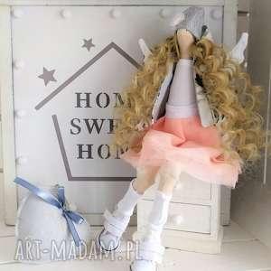 handmade lalki anioł tilda chrzest komunia podziękowanie