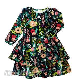 pod choinkę prezenty, sukienka flowerbomb, sukienka, falbany, kwiaty