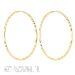 złote kolczyki koła sotho - okrągłe, minimalistyczne