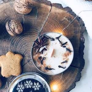dom świeca sojowa świąteczna - zapach grzane wino, sojowa