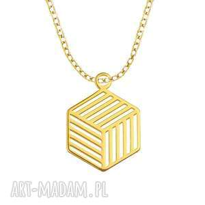 celebrate - cube - necklace g - ,celebrytki,kostka,