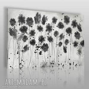 vaku dsgn obraz na płótnie - kwiaty czarny 120x80 cm 65001, kwiaty, ogród
