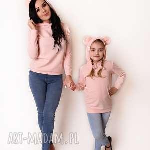 latori - bluza damska z uszami kolekcji mama i córka lm47/2 jasny róż