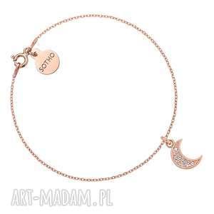 bransoletka z księżycem wysadzanym swarovski® crystal