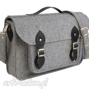 na ramię filcowa torba - personalizowana z grawerowaną dedykacją logo lub grafiką