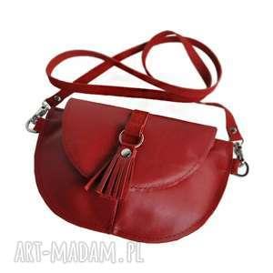 ręczne wykonanie mini skórzana torebka dla dziewczynki - czerwona