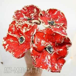 na sztuki wielkie ceramiczne maki handmade, kwiaty wazonie, ceramika