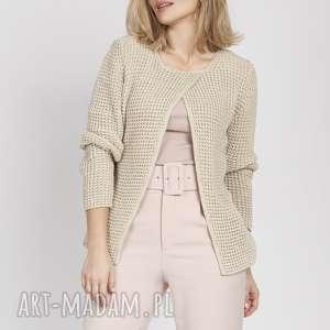 handmade swetry asymetryczny sweter, swe168 beż mkm