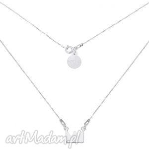 krótki srebrny naszyjnik z koroną, naszyjnik, łańcuszek, korona, srebro, blogerski