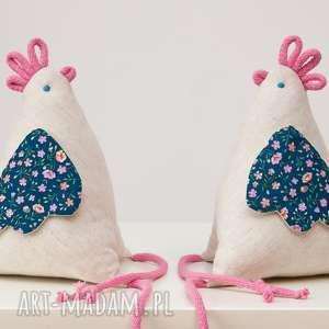 handmade dekoracje kura kurka kokoszka z materiału