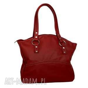 ręcznie zrobione na ramię 41 -0005 czerwona torebka skórzana z pięknymi kołami /