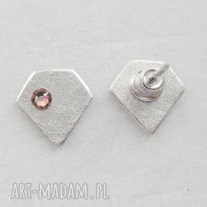 handmade kolczyki diament kolczyki