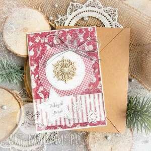 piękna kartka na święta bożego narodzenia koperta, bożonarodzeniowa