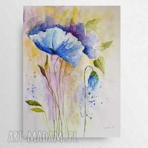 kwiaty-akwarela formatu a4, akwarela, kwiaty