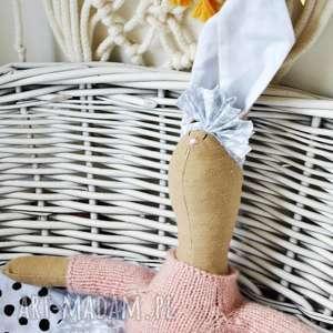 pani królik z imieniem, prezent, dzień, dziecka, przytulanka, chrzest, komunia