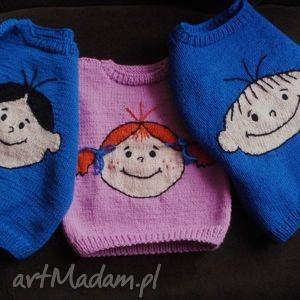 handmade komplet 3 sweterków - zamówienie. Adama