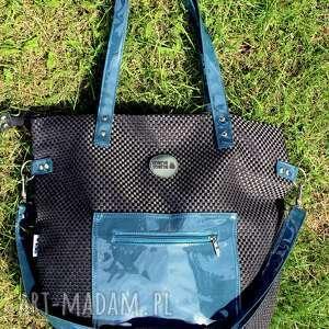 na ramię torba worek z plecionki morskimi dodatkami pocket, torba-na-ramię