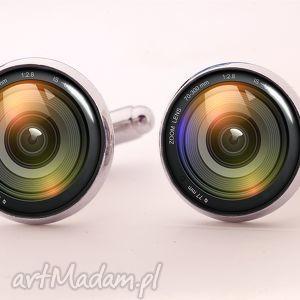 obiektyw - spinki do mankietów - obiektyw, fotograf, aparat, spinki, mankietów