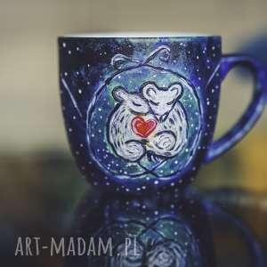 kubek malowany ręcznie dla par, prezent na rocznicę, niej
