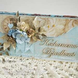 vairatka-handmade kartka dla dziadka z pudełkiem - dzień dziadka