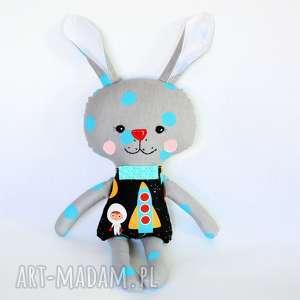 Królik Tuptuś - Zenek, królik, maskotka, przytulanka, zając, chłopak, kosmonauta