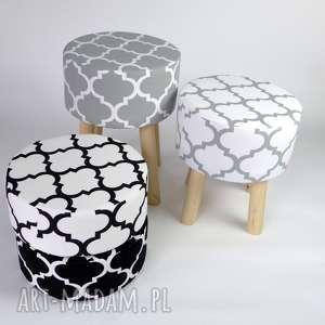 dom stołek fjerne m szara koniczyna, puf, podnóżek, stołek, dom, drewno