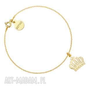 złota bransoletka z koroną sotho - żółte złoto