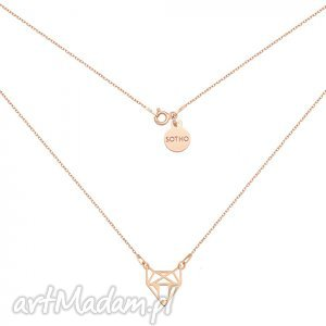 handmade naszyjniki naszyjnik z różowego złota ażurowym lisem