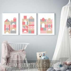 handmade pokoik dziecka zestaw plakatów dla dzieci klocki