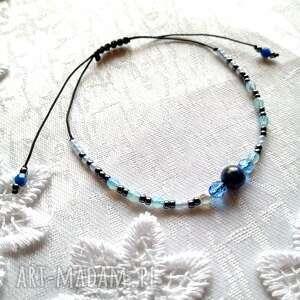 bransoletka z toho i lapis lazuli, bransoletka, makrama, kamienie, toho, fire