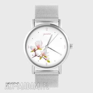 zegarki zegarek, bransoletka - magnolia metalowy