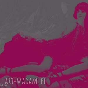 Buduar, moda, buduar, digital, design, kobieta, modelka