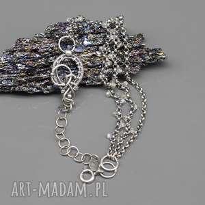 labradoryt w starym stylu - bransoletka tarkil, wire wrapping srebro, retro, regulowana