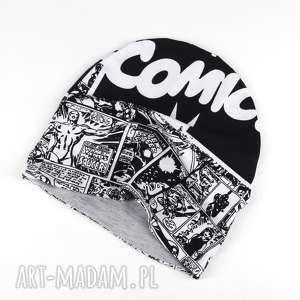 ubranka marvel komiks ciepła dwustronna czapka dla dziecka, marvel, czapka, dwstronna
