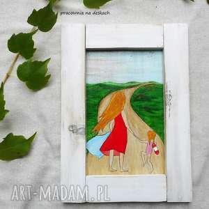 letni dzień - obrazek, malowany ręcznie, kobiecy, rustykalny