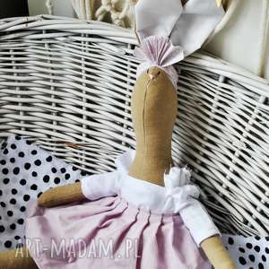 maskotki pani królik maskotka z imieniem, prezent, inny, niż, wszystkie, wyszyte