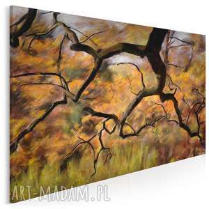 obraz na płótnie - drzewa park 120x80 cm (27501)