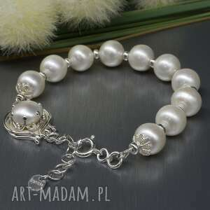 naturalne perły, bransoletka eladiera, perły naturalne, perła hodowlana
