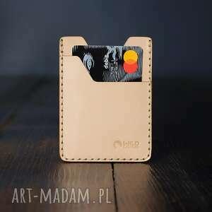 handmade portfele minimalistyczny portfel skórzany ręcznie szytyna karty