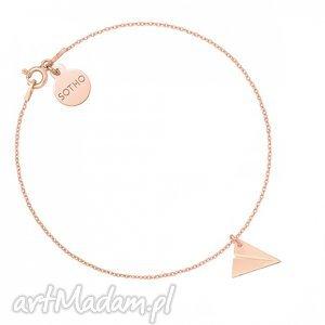 bransoletka z samolocikiem origami różowego złota, modna
